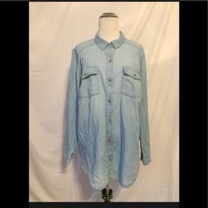 Melrose and Market Chambray Shirt Size 1X